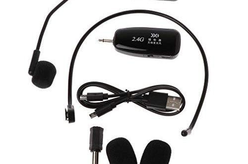 SimpleLife-Kondensator-Headset-Mikrofon, Sprachverstärker, drahtloses Mikrofon mit 2.4G-Mikrofon, Megaphon-Radio-Mikrofon für Sprachlautsprecher