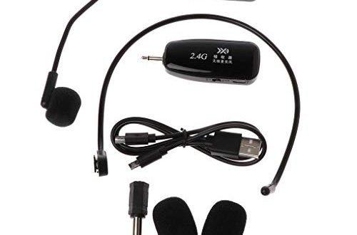 Xuniu 2.4G drahtloser Mikrofon-Kopfhörer-Megaphon-Radio-Mikrofon für Sprachlautsprecher