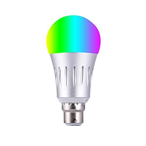YFQH Intelligente Wi-Fi-Glühlampen-Sprachlautsprecher-Sprachsteuerung,B22RGB+CW