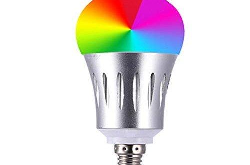 YFQH Intelligente Wi-Fi-Glühlampen-Sprachlautsprecher-Sprachsteuerung,E26RGB+CW