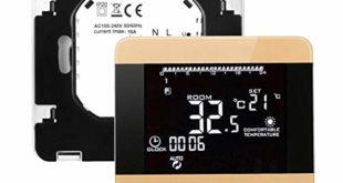 41o+QhAPvHL 310x165 - Asiproper Thermostat, digital, LCD WiFi, Alexa, Temperaturregler, Heizung Electric,gold